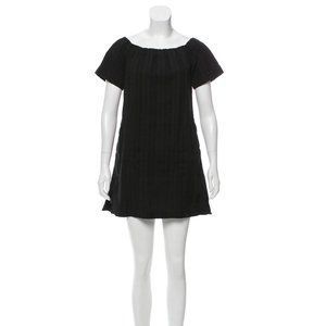 A.L.C. Black Off-The-Shoulder Dress